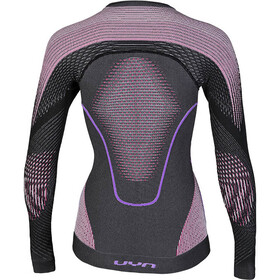 UYN Evolutyon Melange UW LS Shirt Women Anthracite Melange/Raspberry/Purple
